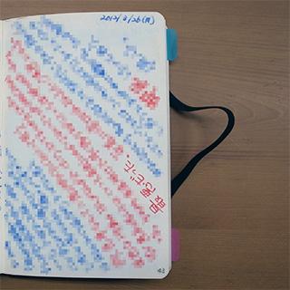 逆さまに書いたノート
