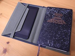 ノートカバーにiPad mini を入れてみる