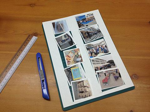 印刷した写真のカット