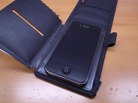 iPhoneを装着した状態