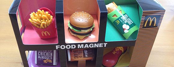 マクドナルドのフードマグネット
