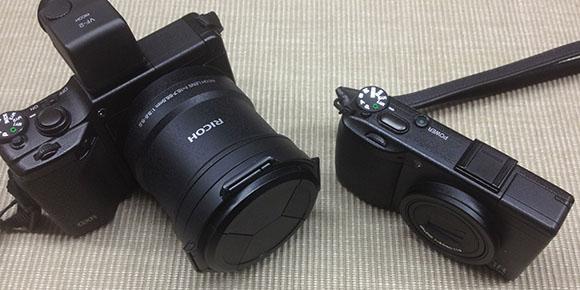 所有のカメラ:GXR+A16とGR DIGITAL III