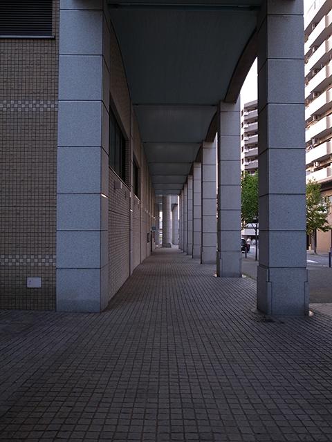 博物館前の通路