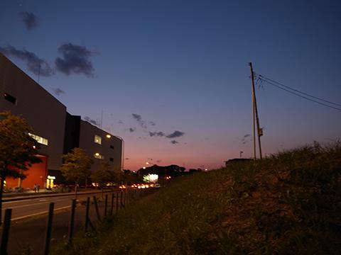 夕闇が美しい