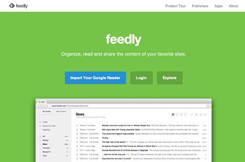 Feedly Web site