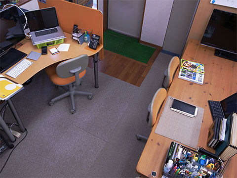 Macのある仕事場