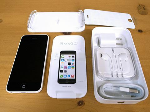 iPhone5c 梱包の内容