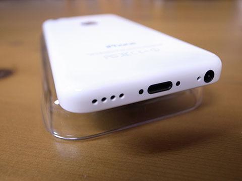 iPhone5c 底面の状態