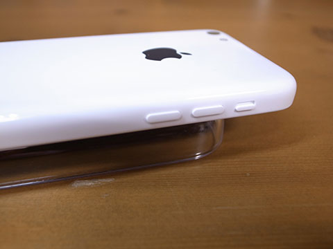 iPhone5c 側面のボタンの状態
