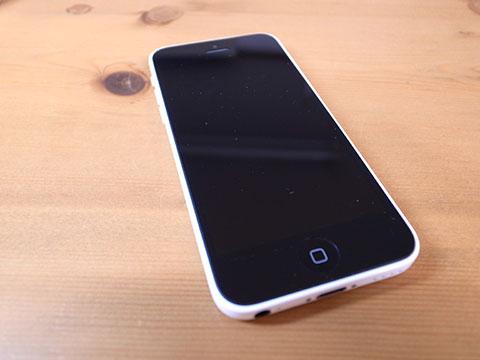 iPhone5c 前面の状態