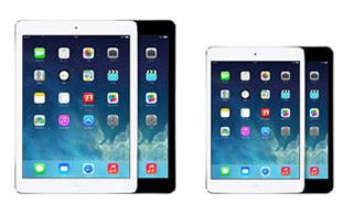 iPad mini RetinaディスプレイモデルとiPad Air