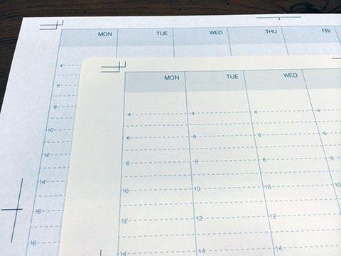 コピー用紙とフォリオ印刷用紙の色の違い