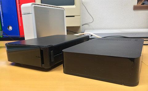 io-dataとBuffaloのUSB接続HDD