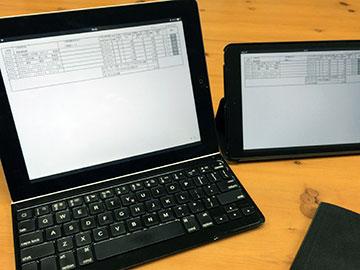 iPadとiPad miniの表示