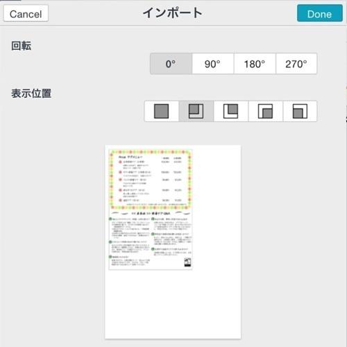 PDF読み込みオプション