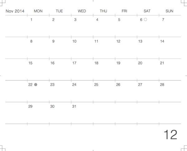 カレンダーのサムネール