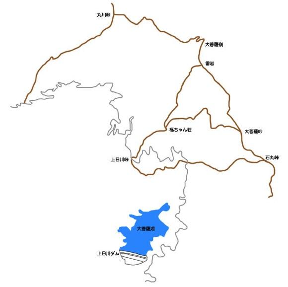 大菩薩嶺周辺マップ