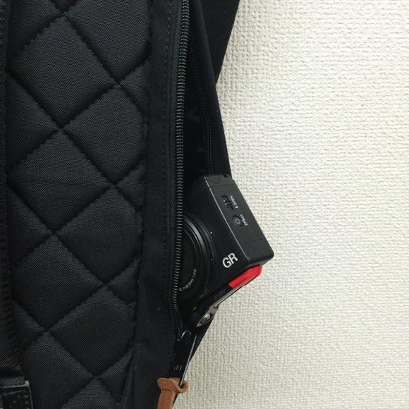 サイドジッパーのポケット