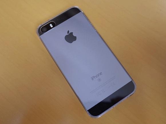 シェルカバー装着したiPhoneSE