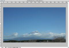朝霧方面からの富士山